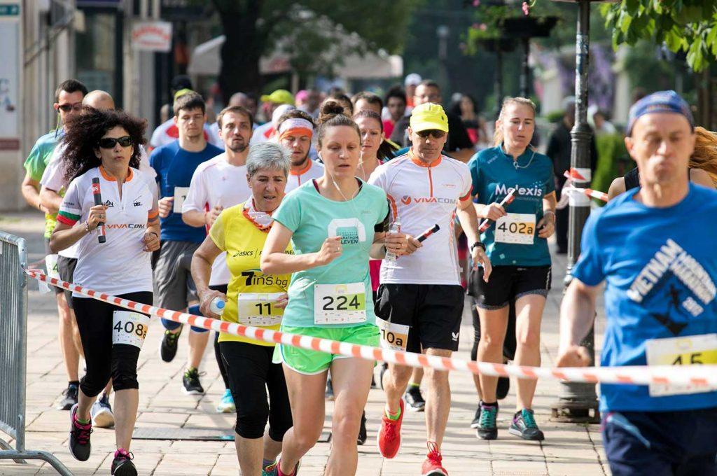 Pleven marathon streets